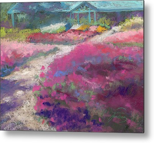 Landscape Metal Print featuring the painting Trial Gardens In Fort Collins by Grace Goodson