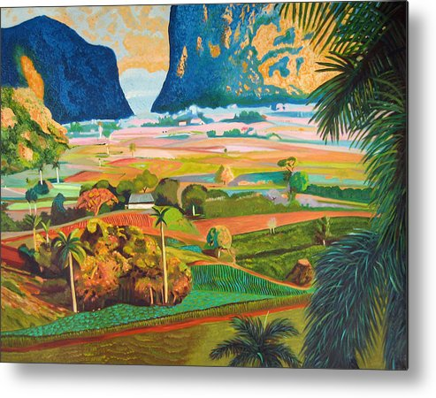 Cuban Art Metal Print featuring the painting Vinales by Jose Manuel Abraham
