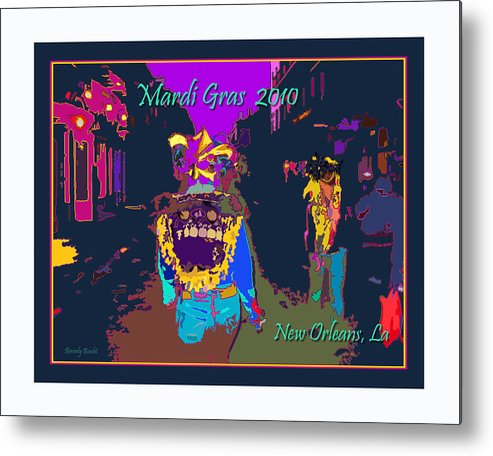 Mardi Gras 2011 Metal Print featuring the digital art Who Dat At Night In The Quarter by Beverly Boulet