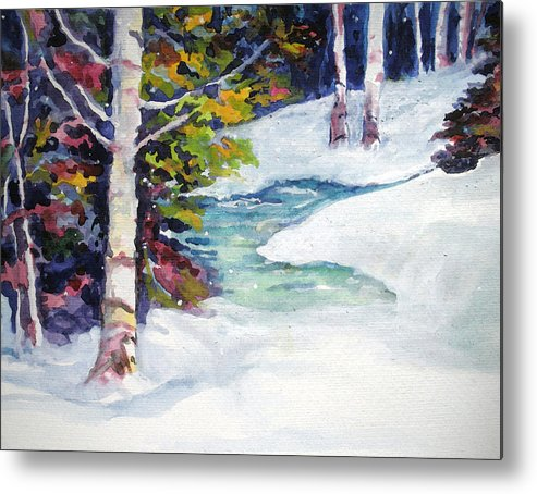 Winter Metal Print featuring the painting Winter's Solace by Mary Sonya Conti