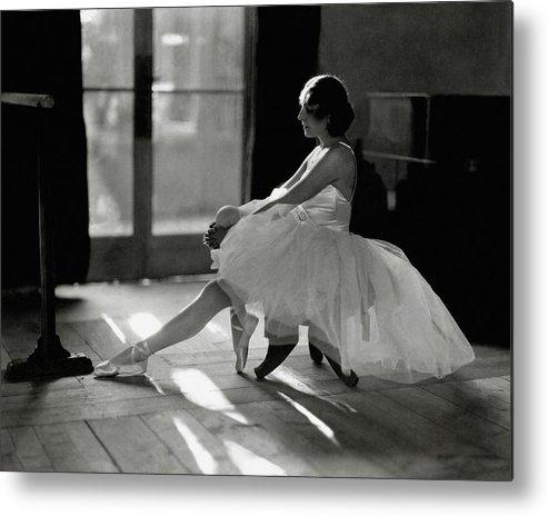 Dance Metal Print featuring the photograph Ida Rubinstein Wearing A Tutu by Phyllis Abbe