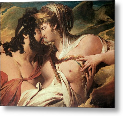 Hera Metal Print featuring the painting Jupiter And Juno On Mount Ida by James Barry