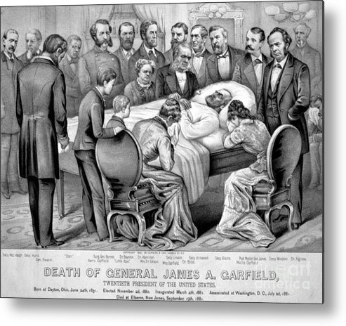Government Metal Print featuring the photograph Death Of Garfield, 1881 by Photo Researchers