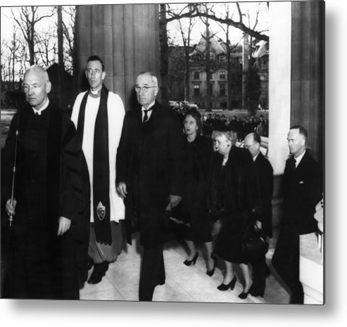 1950s Metal Print featuring the photograph Truman Presidency. From Left Cathedral by Everett