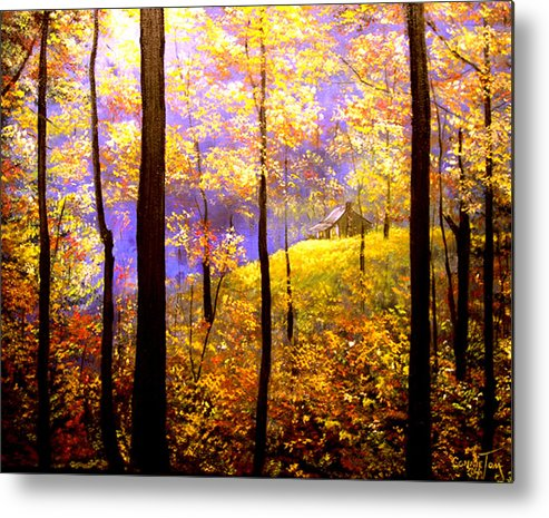 A Painting A Day Metal Print featuring the painting Autumn Impression by Connie Tom