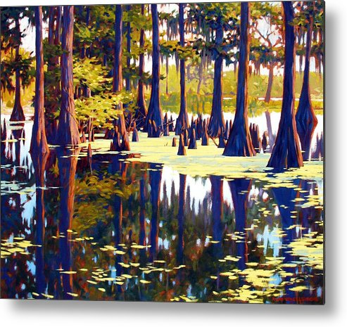 Swamp Metal Print featuring the painting Reflections by Kevin Lawrence Leveque
