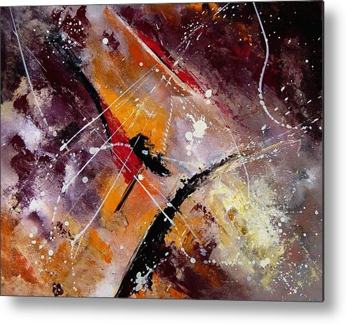 Abstract Metal Print featuring the painting Abstract 45 by Pol Ledent