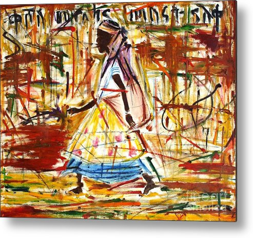 Women Metal Print featuring the painting Africa 2 by Julie Hakes