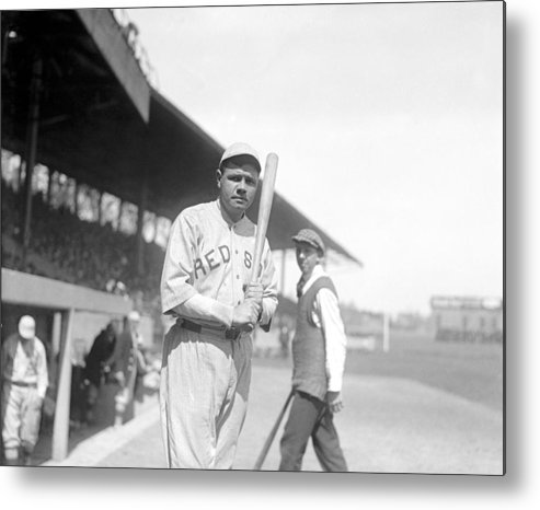 1910s Metal Print featuring the photograph Babe Ruth, 1919 by Everett