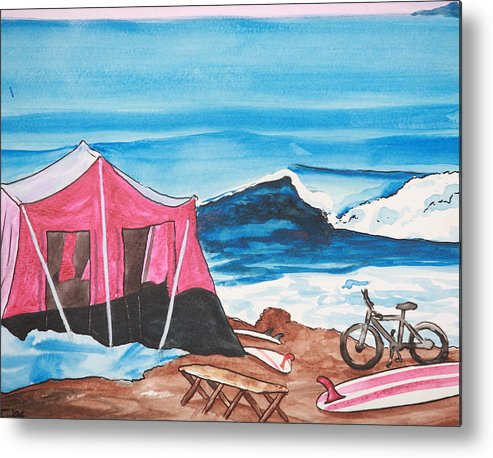 Surf Metal Print featuring the painting Baja Boogie by Ronnie Jackson