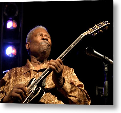 Bb King Metal Print featuring the photograph Bb King 2005 by Bob Guthridge