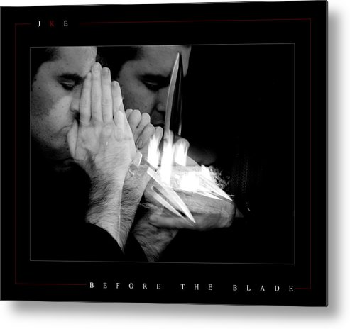 Self Portrait Metal Print featuring the photograph Before The Blade by Jonathan Ellis Keys