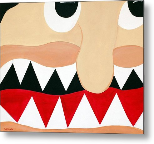 Funism Metal Print featuring the painting Big Smile by Sal Marino
