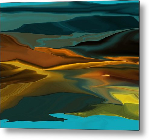 Fine Art Metal Print featuring the digital art Black Hills Abstract by David Lane
