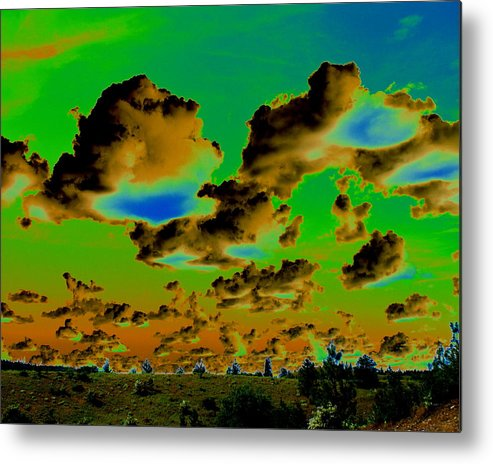 Photo Art Metal Print featuring the photograph Cosmic Cloud Skyline by Ben Upham III