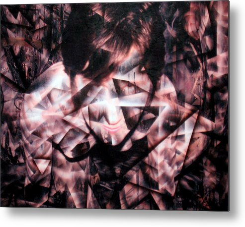 Painting Metal Print featuring the painting Deirdre Shattered by Leigh Odom