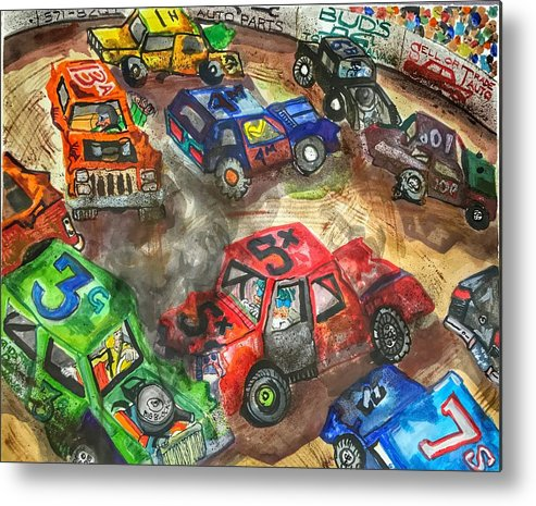 Gm Metal Print featuring the painting Demo Derby One by Jame Hayes
