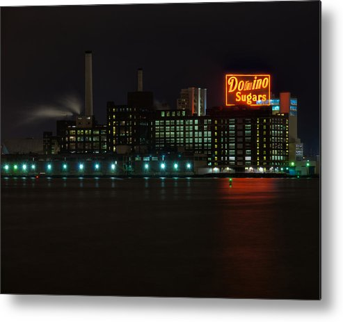 Tonemapped Metal Print featuring the photograph Domino Sugars Wide by Mark Dodd