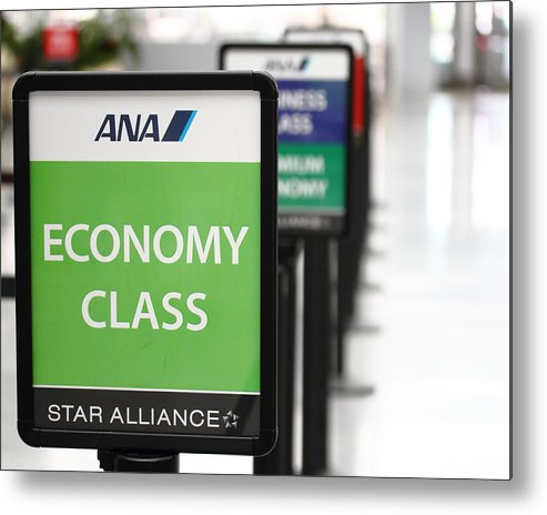 Sfo Metal Print featuring the photograph Economy Class by Wingsdomain Art and Photography