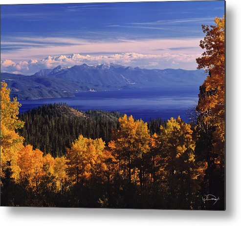 Lake Tahoe Metal Print featuring the photograph Fall Over East Shore by Vance Fox