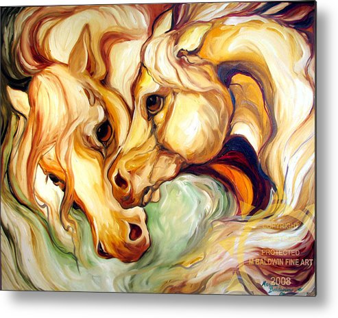 Horse Metal Print featuring the painting Fury by Marcia Baldwin