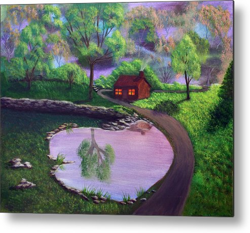 Light Metal Print featuring the painting Good Spring Morning by Dawn Blair
