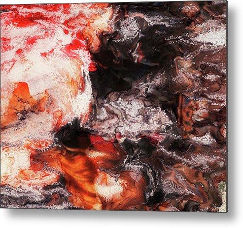 Paul Tokarski Metal Print featuring the photograph Lava Flow by Paul Tokarski