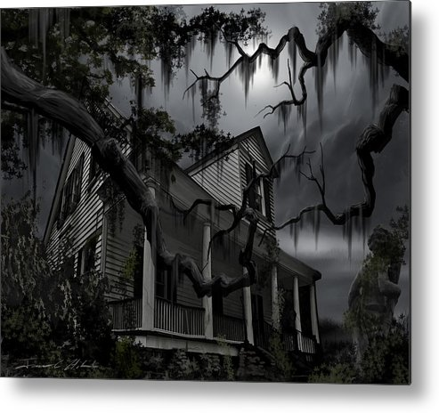 Ghosts Metal Print featuring the painting Midnight In The House by James Christopher Hill