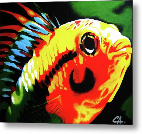 Fish Metal Print featuring the painting Mohawk Fish by Colleen Auxier