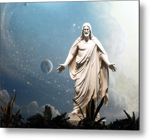 Jesus Christ Metal Print featuring the photograph Our Savior And Our Creator by Jan Tribe