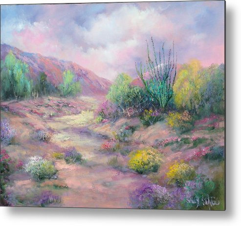 Desert Metal Print featuring the painting Painted Desert by Sally Seago