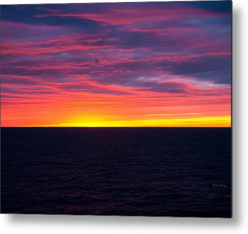 Landscape Metal Print featuring the photograph Red Skys In The Morning by Bill Perry