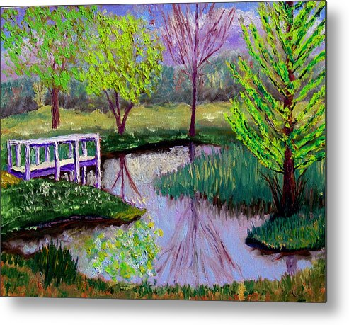 Landscape Metal Print featuring the painting Sewp 5 2 by Stan Hamilton