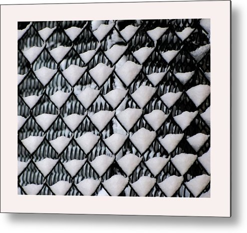Winter Scene Metal Print featuring the photograph Snow Triangles After Storm by Rene Crystal