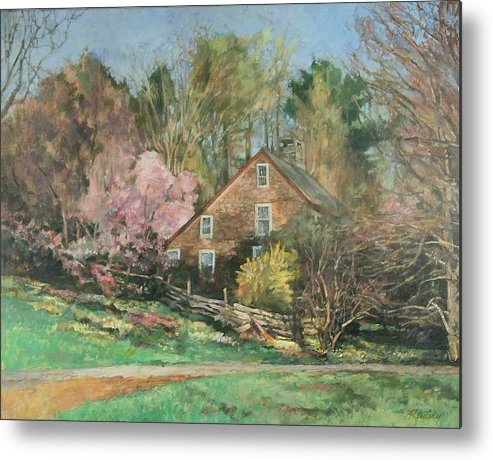 Spring Metal Print featuring the painting Springtime On Longhill by Robert Tutsky