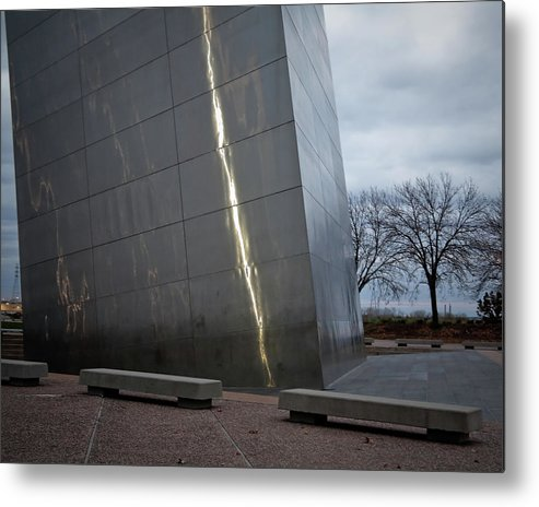 St Louis Metal Print featuring the photograph St Louis Arch - Scale by David Coblitz