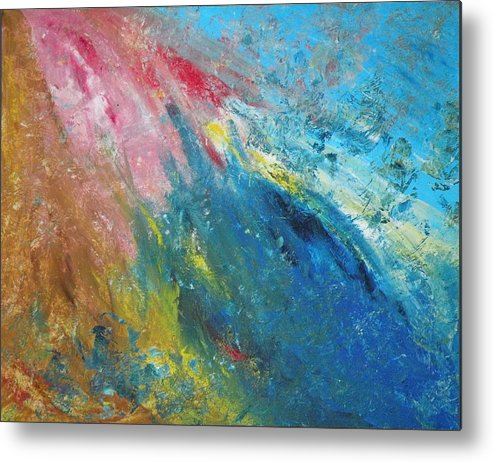 Inner World Metal Print featuring the painting Steadfast by Christine Martin