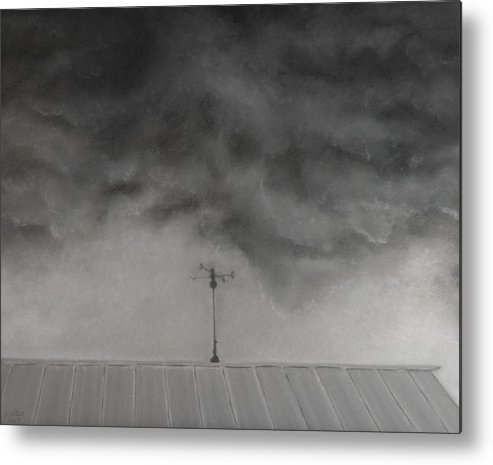 Sky Metal Print featuring the painting Stormy Sky by Lisa Bell
