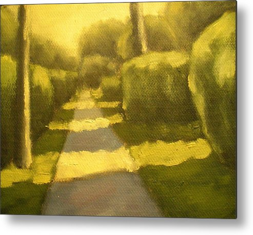 Art Sale Metal Print featuring the painting Sunny Sidewalk by Jaylynn Johnson
