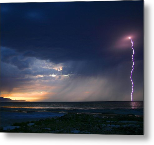 Weather Metal Print featuring the photograph Sunset Surprise by Gene Praag