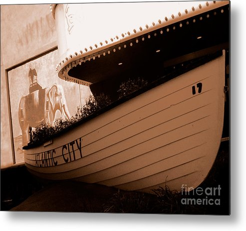 Boats Metal Print featuring the photograph The Boardwalk by Heather Weikel