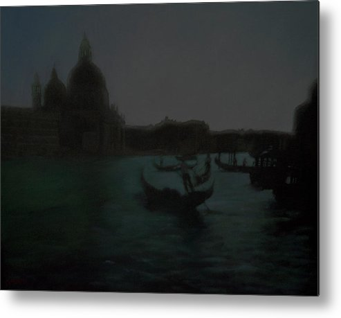 Venice Metal Print featuring the painting The Grand Canal Scene by Masami Iida