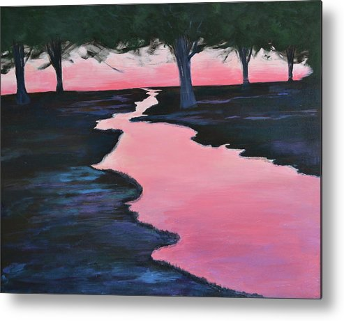 Landscape Metal Print featuring the painting The Journey by Sheryl Sutherland