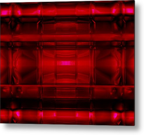 Computer Metal Print featuring the photograph The Machine Red by Jack Norton