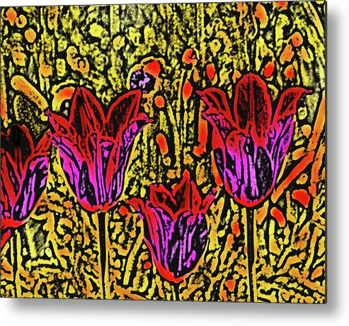 Tulips Metal Print featuring the photograph Tulips Are Tulips by Susanne Van Hulst