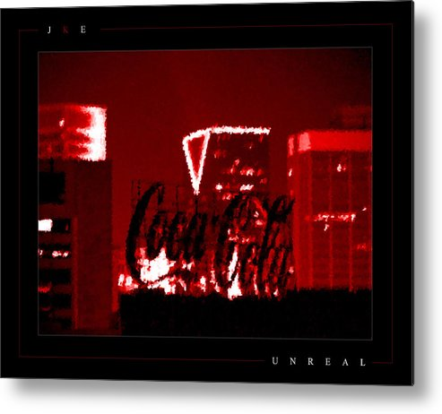 Coke Metal Print featuring the photograph Unreal by Jonathan Ellis Keys