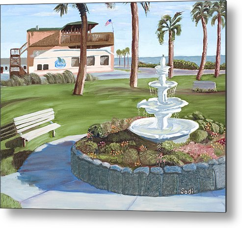 Landscape Metal Print featuring the painting Veterans' Park by Sodi Griffin