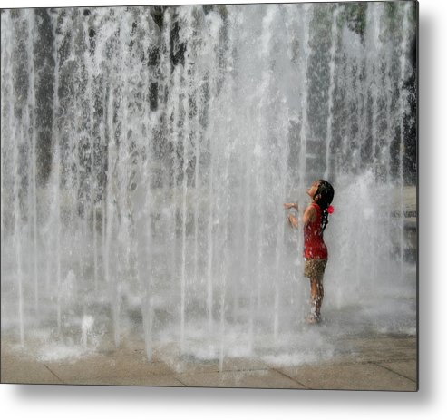 Water Metal Print featuring the photograph Water Dance by Perry Webster