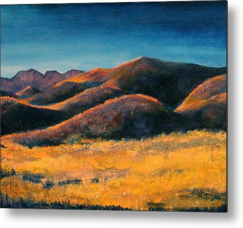 Art Nomad Metal Print featuring the painting Yuma Lady by Art Nomad Sandra Hansen