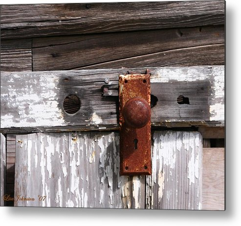 Door Metal Print featuring the photograph Rusty Entry by Lisa Johnston